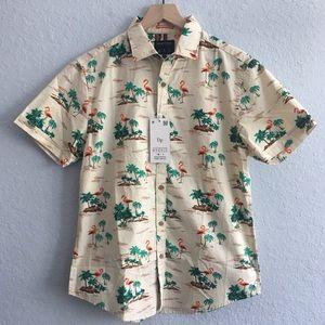 NEW Flamingo & Palm Tree Slim Fit Shirt